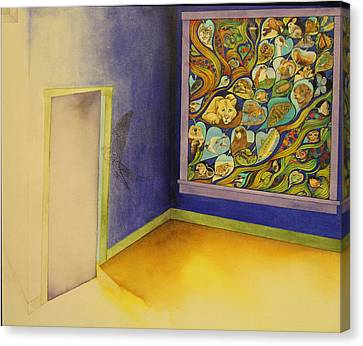 Much In The Window Little In The Room Canvas Print by J Tanner
