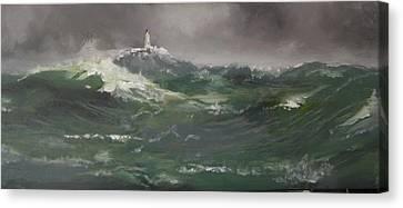 Muckle Flugga Lighthouse Shetland Canvas Print