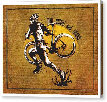 Mud Sweat And Gears Canvas Print by Sassan Filsoof
