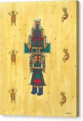 Mudhead Kachina Doll Canvas Print