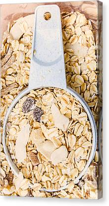 Muesli Scoop Serving Cup Canvas Print by Jorgo Photography - Wall Art Gallery