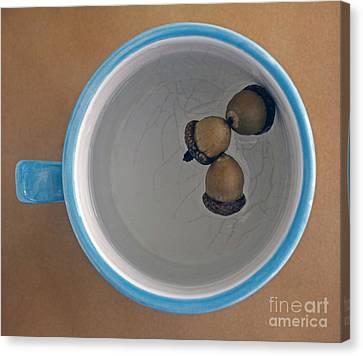 Canvas Print featuring the photograph Mug And Finials 1 by Sebastian Mathews Szewczyk