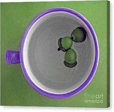 Canvas Print featuring the photograph Mug And Finials 2 by Sebastian Mathews Szewczyk