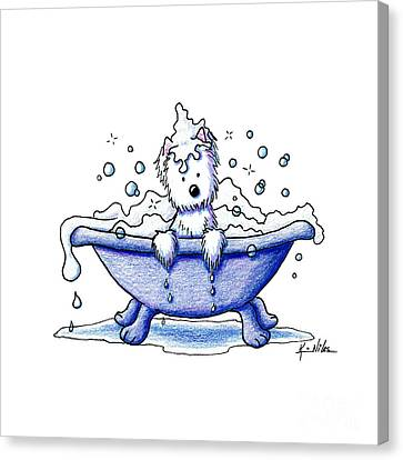 Muggles Bubble Bath Canvas Print by Kim Niles