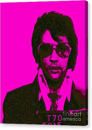 Mugshot Elvis Presley M80 Canvas Print by Wingsdomain Art and Photography