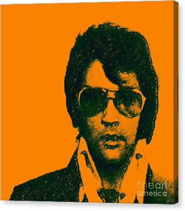 Mugshot Elvis Presley Square Canvas Print by Wingsdomain Art and Photography