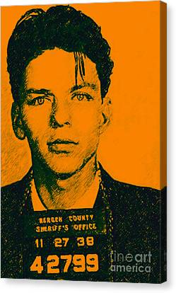 Mugshot Frank Sinatra V1 Canvas Print by Wingsdomain Art and Photography