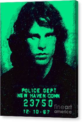 Mugshot Jim Morrison P128 Canvas Print by Wingsdomain Art and Photography
