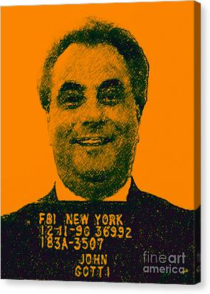 Mugshot John Gotti P0 Canvas Print by Wingsdomain Art and Photography