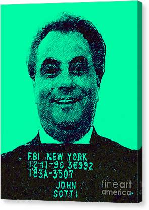 Mugshot John Gotti P128 Canvas Print by Wingsdomain Art and Photography