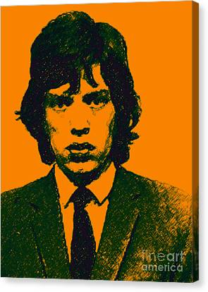 Mugshot Mick Jagger P0 Canvas Print by Wingsdomain Art and Photography