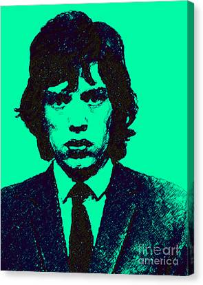 Mugshot Mick Jagger P128 Canvas Print by Wingsdomain Art and Photography