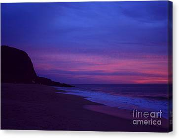Canvas Print featuring the photograph Mugu Rock Jan. 2010 by Ian Donley
