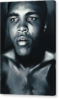 Muhammad Ali Boxing Artwork Canvas Print by Sheraz A