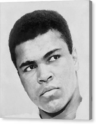 Muhammad Ali Canvas Print by Dan Sproul