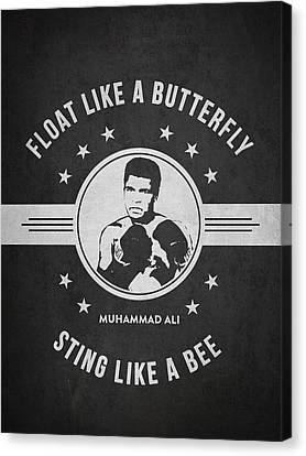 Boxer Canvas Print - Muhammad Ali - Dark by Aged Pixel