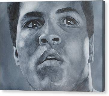 Canvas Print featuring the painting Muhammad Ali by David Dunne