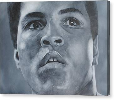 Muhammad Ali Canvas Print by David Dunne