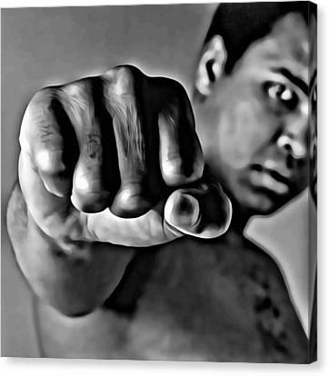 Muhammad Ali Fist Canvas Print