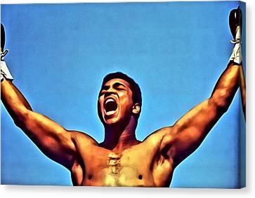 Muhammad Ali Canvas Print by Florian Rodarte