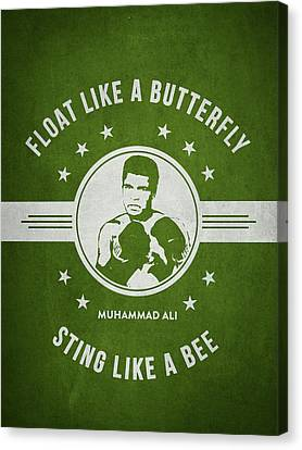 Muhammad Ali - Green Canvas Print by Aged Pixel