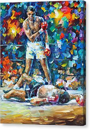 Muhammad Ali Canvas Print by Leonid Afremov