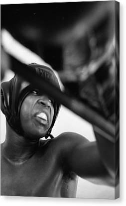 Muhammad Ali Looking Sideway Through Rope Canvas Print by Retro Images Archive