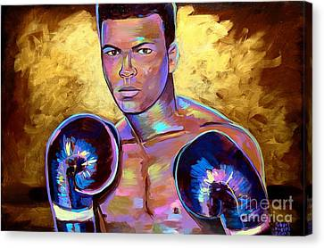Canvas Print featuring the painting Muhammad Ali by Robert Phelps