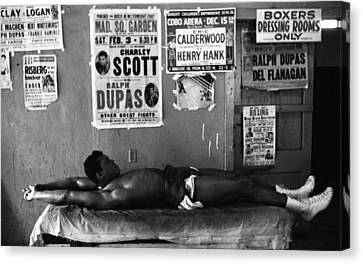 Muhammad Ali Stretching Canvas Print