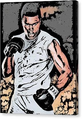 Muhammad Ali Canvas Print by Tanysha Bennett-Wilson