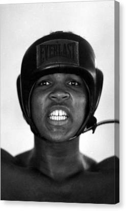 Muhammad Ali Teeth Gritted Canvas Print by Retro Images Archive
