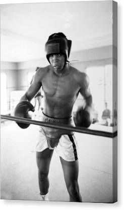 Muhammad Ali Training Inside Ring Canvas Print by Retro Images Archive