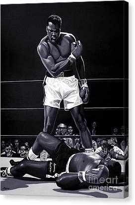 Black People Canvas Print - Muhammad Ali Versus Sonny Liston by Meijering Manupix