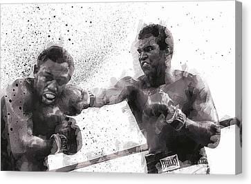 Muhammad Ali Vs Joe Frazier Canvas Print