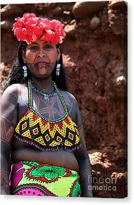 Mujer Embera Canvas Print by John Rizzuto