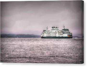 Whidbey Island Ferry Canvas Print - Mukilteo Ferry by Spencer McDonald