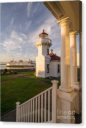 Whidbey Island Ferry Canvas Print - Mukilteo Lighthouse 2 by Tracy Knauer