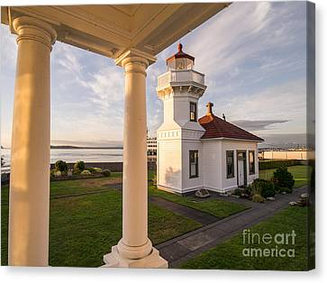 Whidbey Island Ferry Canvas Print - Mukilteo Lighthouse 3 by Tracy Knauer