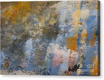 Mulberry On Concrete Canvas Print by Nola Lee Kelsey