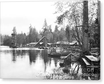 Canvas Print featuring the photograph Mullens Resort On Paterson Lake Summer 1928 by Vibert Jeffers