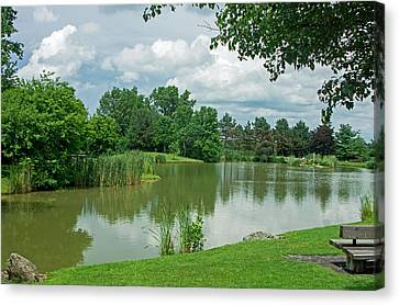 Muller Chapel Pond Ithaca College Canvas Print
