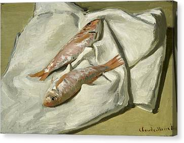 Mullets Canvas Print by Claude Monet