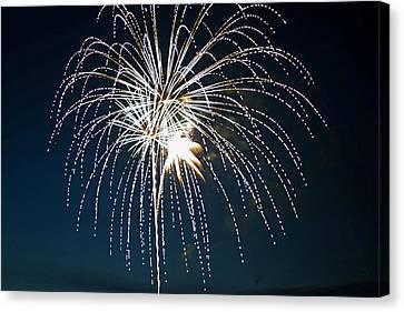 West Virginia Day Fireworks 4 Canvas Print