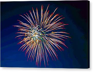 Pyrotechnic Canvas Print - West Virginia Day Fireworks 2 by Howard Tenke