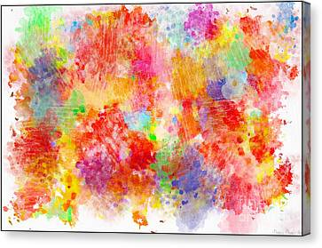 Multi Colored Ditgital Abstract 4 Canvas Print by Debbie Portwood