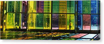 Multi-colored Glass In A Convention Canvas Print by Panoramic Images