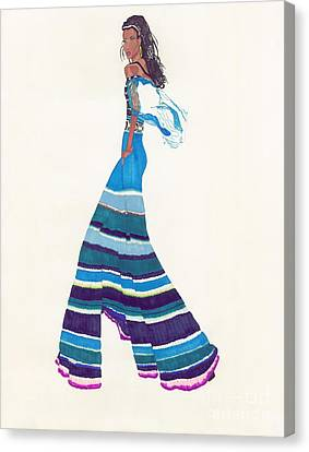 Multi-colored Pants Canvas Print by Asia Johnson