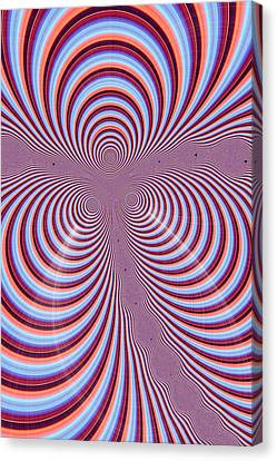 Multi-coloured Abstract Design Canvas Print by Paul Sale Vern Hoffman