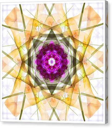 Multi Flower Abstract Canvas Print by Mike McGlothlen