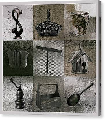 Multi Home Decor - 01v2f4c Canvas Print by Variance Collections